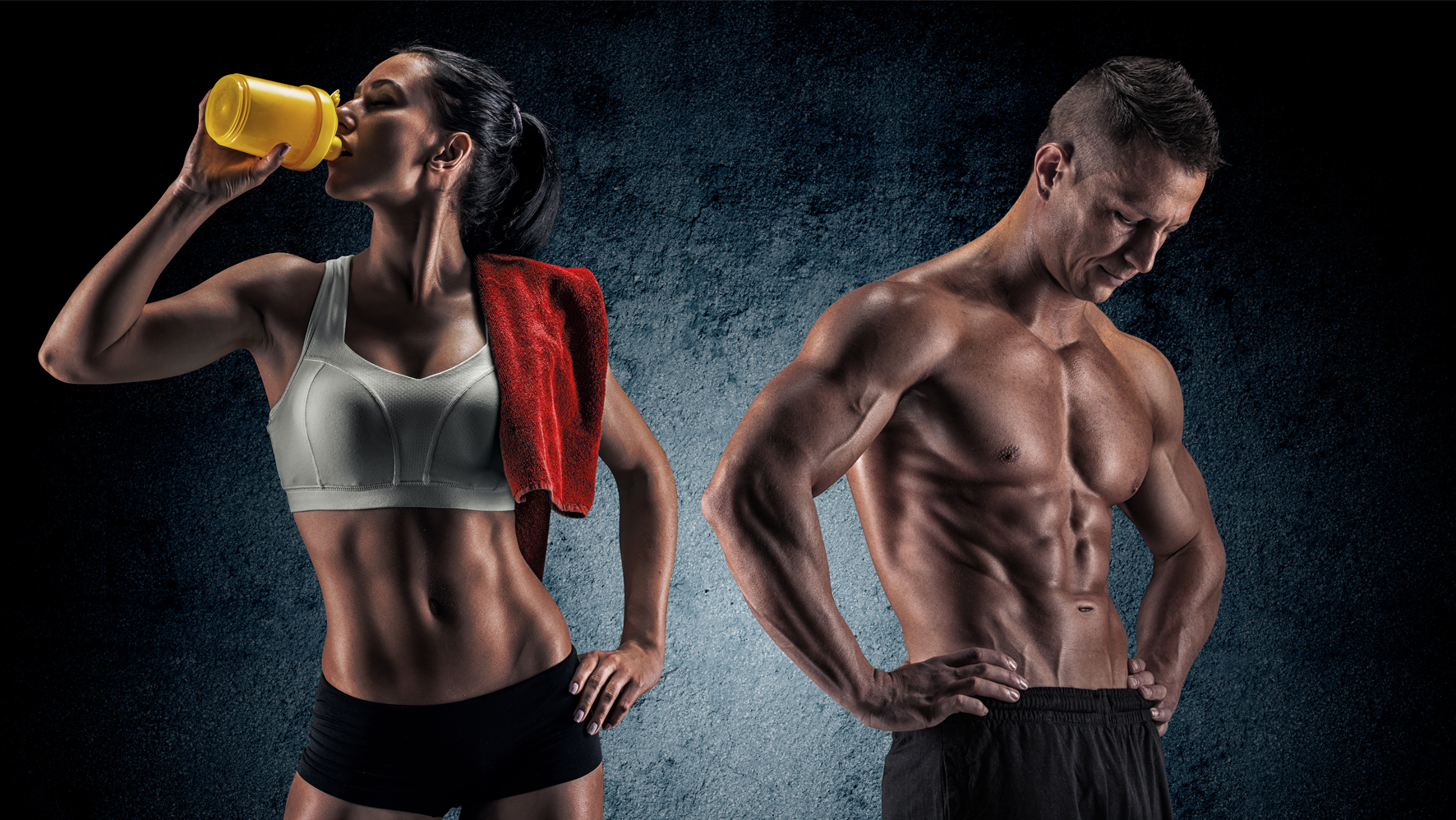 Fit and Toned Couple at Family Kickboxing in Sudbury